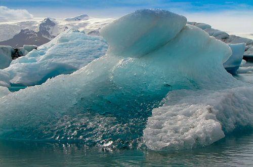 Smeltend ijs in het gletsjermeer Jökulsárlón, IJsland