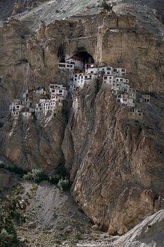 Phugtal Gompa, een Boeddhistisch klooster in Ladakh, India van Affectfotografie
