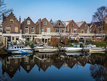 Zicht op de achterzijde van de Steijnstraat in Alkmaar von peterheinspictures