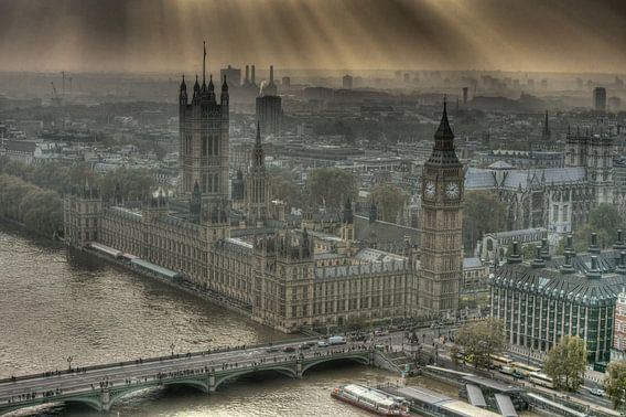 Sunshine on the Palace of Westminster London