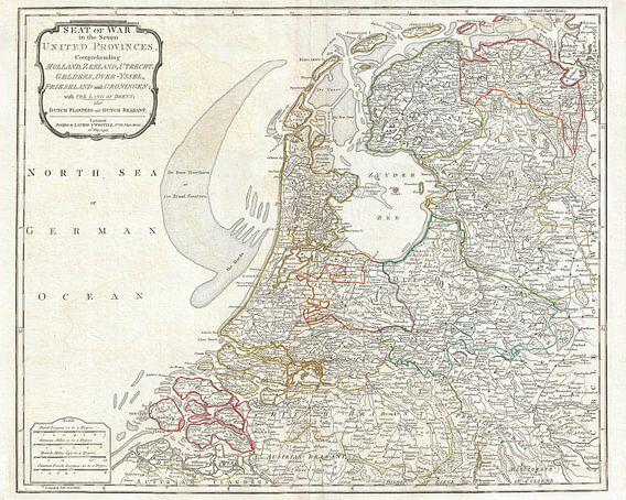 Kaart van Nederland 1794