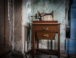 Oude naaimachine van