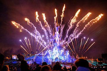 Disneyland Parijs magische vuurwerkshow van Kevin IJpelaar