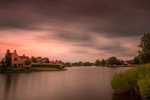 Zonsondergang in Parc Sandur met onweer op komst van