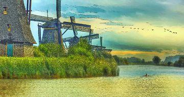 Kinderdijk von Dirk van der Ven