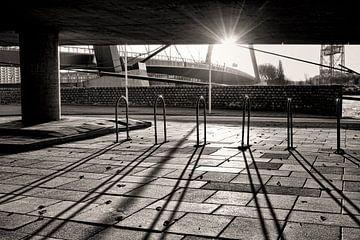 Zonsopkomst onder de Willemsbrug van