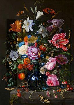 Stillleben Blumen, Früchte und Schmetterlinge von Rudy en Gisela Schlechter