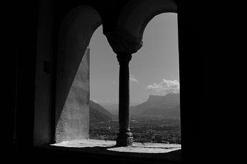 Uitzicht in Italië van Rob van Dam