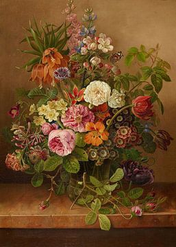 Bloemstilleven, Gottfried Wilhelm Voelcker