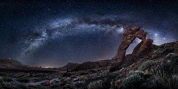 Image de la Voie lactée au volcan Teide sur l'île canarienne de Tenerife en Espagne. sur Voss Fine Art Fotografie