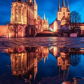 Erfurt am Abend von Martin Wasilewski