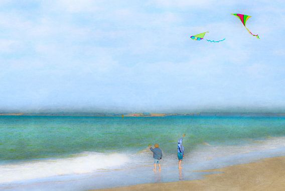 Vliegeren van Wil van der Velde/ Digital Art