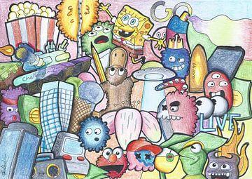 Birthday doodle van Quinten Voskuilen