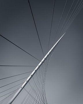 Detail der Citer-Brücke in schwarz-weiß von Henk Meijer Photography