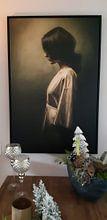 Klantfoto: Alone van Marja van den Hurk, op canvas