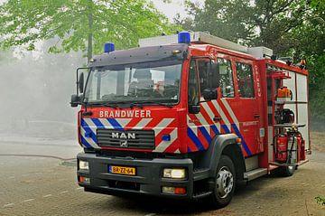 Stoere brandweerwagen van Arjan Penning