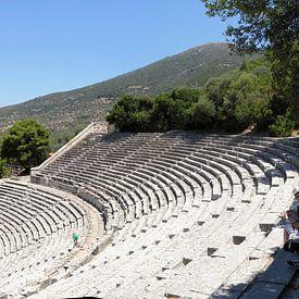 Panorama van het theater bij Epidaurus van Wiljo van Essen