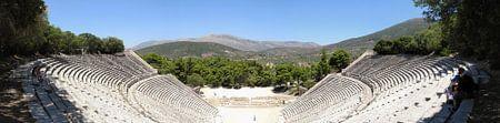 Panorama van het theater bij Epidaurus