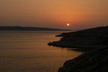 Zonsondergang in Kroatie von Jacqueline Janssen