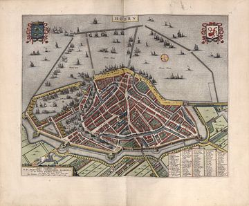 Hoorn, Stadsplattegrond Joan Blaeu 1652 van Atelier Liesjes