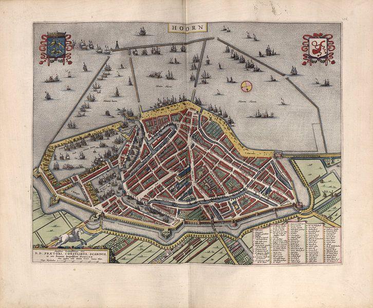 Hoorn, Stadtplan Joan Blaeu 1652 von Atelier Liesjes