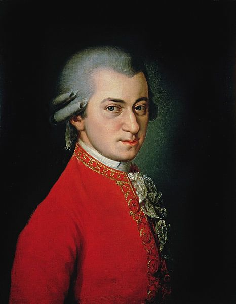Wolfgang Amadeus Mozart, 1818 van Bridgeman Masters