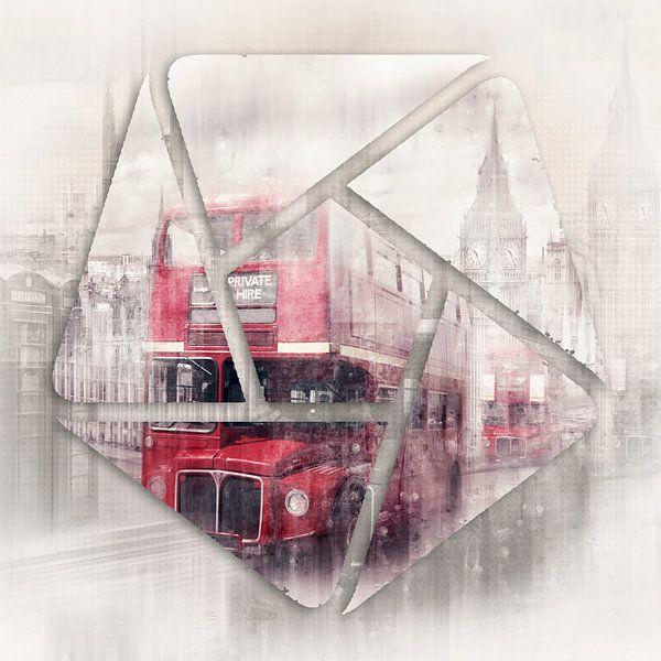 Graphic Art LONDON Westminster Collage van Melanie Viola