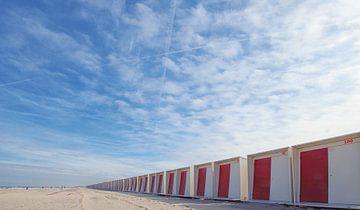 Strandhuisjes van Bob Bleeker