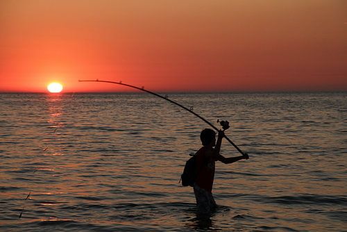 Lone fisherman von Abra van Vossen