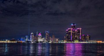 Skyline von Detroit bei Nacht von Billy Cage