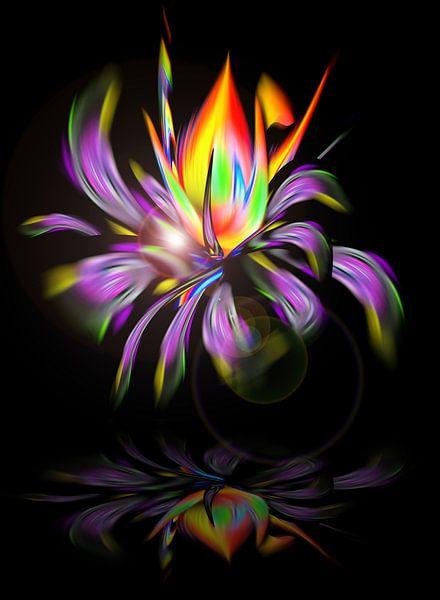 Blühende Fantasie 3 van Walter Zettl