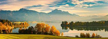 Panorama van de Forggensee
