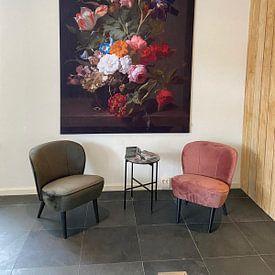 Photo de nos clients: Vase avec des fleurs, Rachel Ruysch (vue à vtwonen) sur Schilders Gilde, sur medium_13