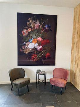 Kundenfoto: Vase mit Blumen, Rachel Ruysch