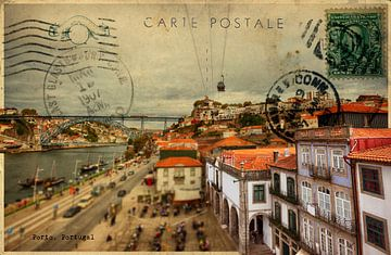 stijlvolle retro kaart van Porto van Ariadna de Raadt