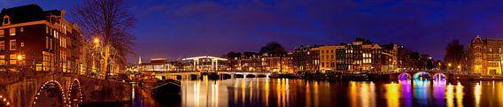 Panorama Magere Brug te Amsterdam van Anton de Zeeuw