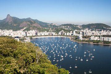 De baai van Botafogo, Rio de Janeiro van Martijn Mureau