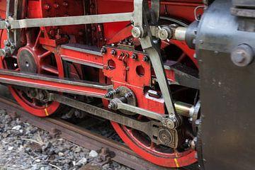 Details van een stoommachine van Jan Schuler