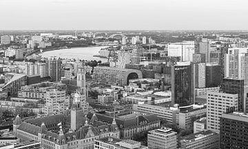 Het geweldige uitzicht op de skyline van Rotterdam van MS Fotografie | Marc van der Stelt