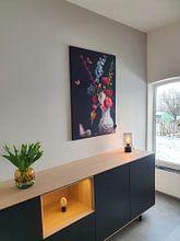 Klantfoto: Stilleven Bloemen Balthasar van der Ast van Sander Van Laar, als print op doek
