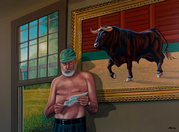 Ernest Hemingway Gemälde von Paul Meijering