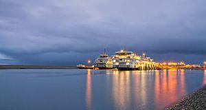 Teso schepen en rolwolk op Texel / Teso ships and rolling cloud on Texel