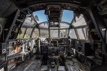 Verlaten cockpit van