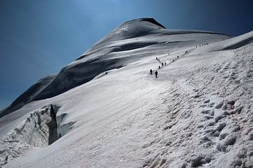 Alpinisten op de Allalinhorn van Felina Photography
