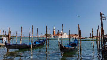 Gondels in Venetië van Willemke de Bruin
