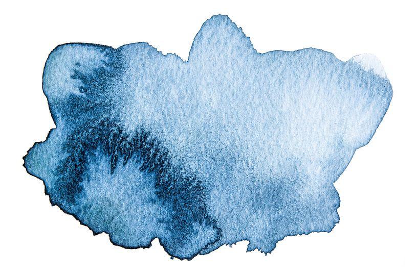 Feeling blue van WatercolorWall