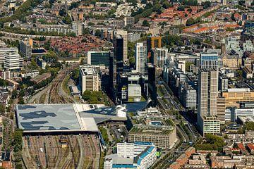 Luchtfoto Rotterdam Centrum van Guido Pijper