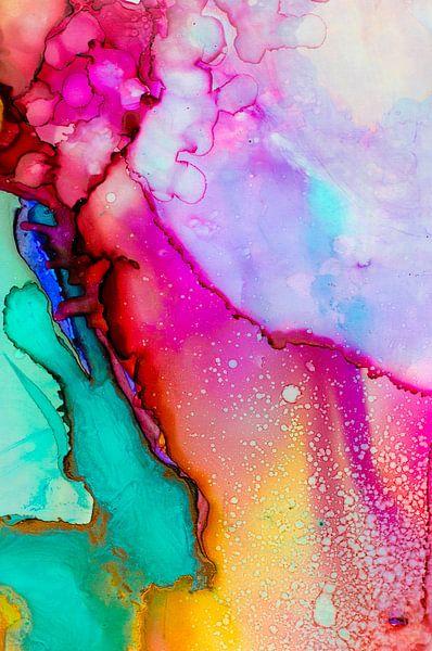 Roze Geel Turquoise van Edith Lüthi