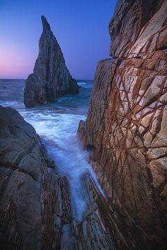 Asturias Playa de Mexota plage après le coucher du soleil sur Jean Claude Castor