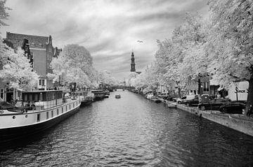 Amsterdamer Kanäle im Infraroten von Arno van der Poel